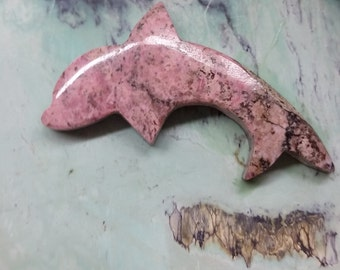 Pink Dolphin Rhodonite Cabochon/ backed/ Silverton, CO