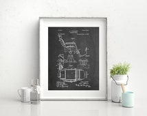 Barbers Chair Patent Art Print, Barber Shop Decor, Barber Gift, Vintage Barber, Hair Stylist Chair, PP244