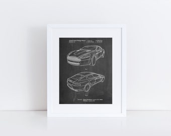 Sports Car Patent Poster, Boys Room Wall Art, Car Poster, Boys Room Wall Decor, Garage Art, PP0709
