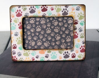 Dog Paw Print Picture Frame