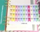 Pastel Weigh In Flag Planner Stickers; Checklist stickers; Colour Coding; Filofaxing; Erin Condren; Inkwell Press; Plum Paper; Kikki K