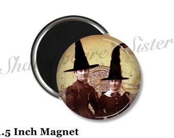 Witch Magnet - Fridge Magnet - Gothic Magnet - 1.5 Inch Magnet - Kitchen Magnet