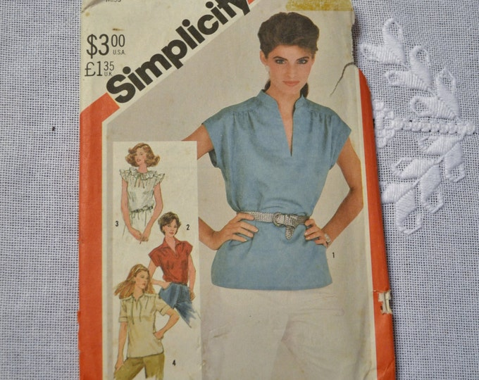Simplicity Sewing Pattern 5456 Misses Top Size 12 Fashion Clothing DIY Sewing  PanchosPorch