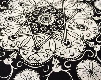 Nine Deer Mandala Print