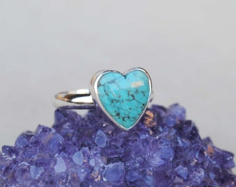 Turquoise Heart Ring - Turquoise Heart Jewelry