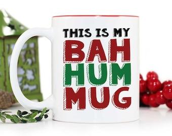 Christmas Mug,Funny Mug,This is My BAHHUMUG,Coffee Mug,Christmas Gift,White elephant gift,Stocking Suffer,Bah humbug,Holiday,MUG-226