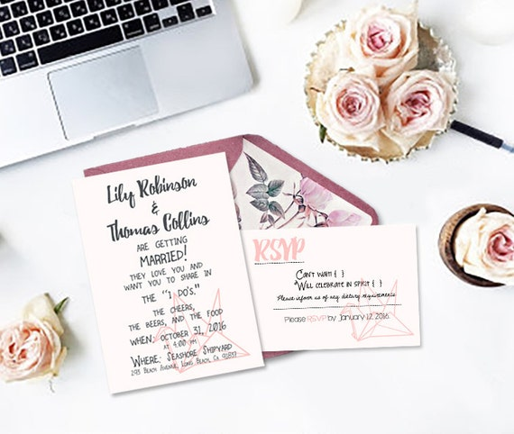 Items Similar To Crane Invitation + RSVP