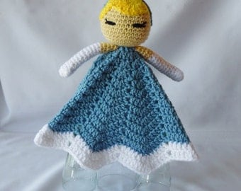 Princess Cinderella Inspired Lovey/Security Blanket