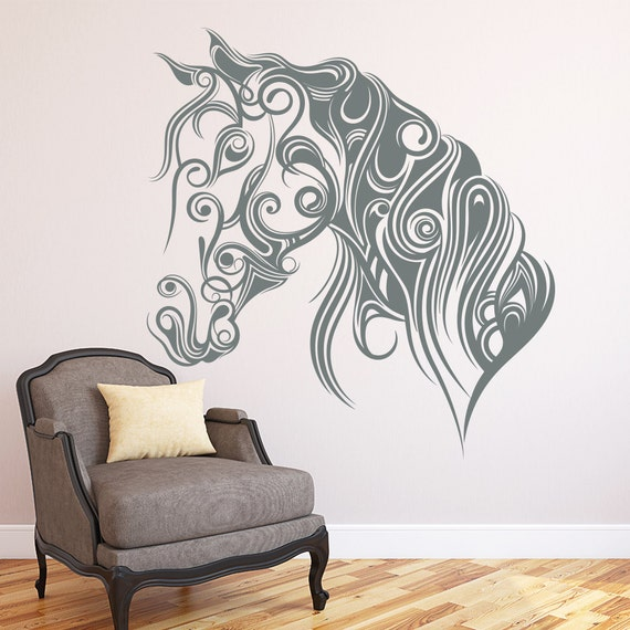 Horse wall decals animal decal pet grooming salon by for Dog grooming salon floor plans