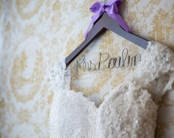 Wedding hanger,  bride hanger,  wedding dress hanger,  bridal hanger,  wedding hanger personalized,  bridesmaid hangers, wedding shower gift