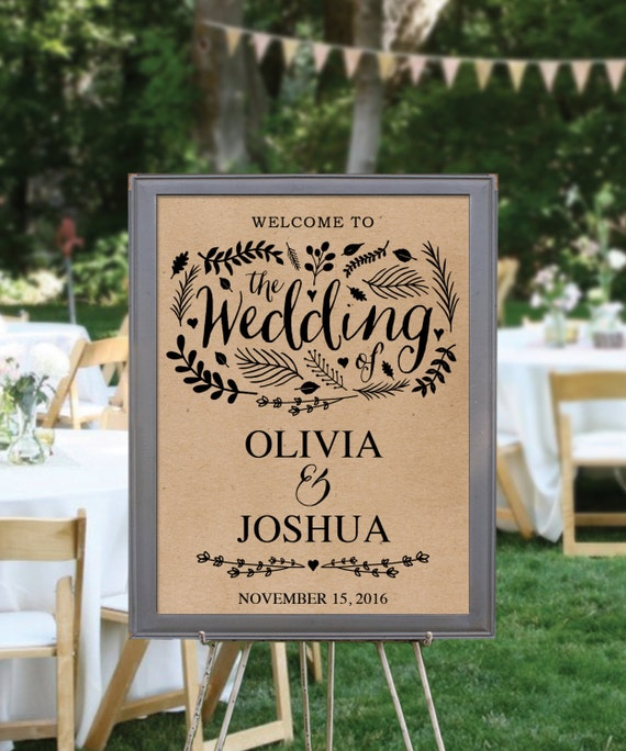 Items Similar To Wedding Welcome Sign Template