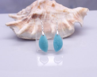 Amazonite earrings, Bohemian Wedding Jewelry, Pop of color, Natural jewelry, Blue gemstone earrings, Birthday gift ideas, Mothers Day