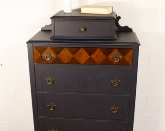 Antique Chest of Drawers in Coastal Blue