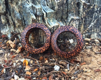 "Coconut Wood Tunnels 8g 6g 4g 2g 0g 00g 7/16"" (11mm) 1/2"" (12mm)"