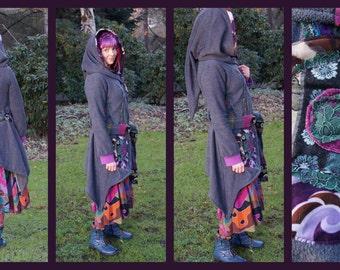 Elf Fleecemantel Zipfel hooded Goa jacket