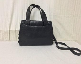 Fee Ship Black Leather Purse Shoulder Bag