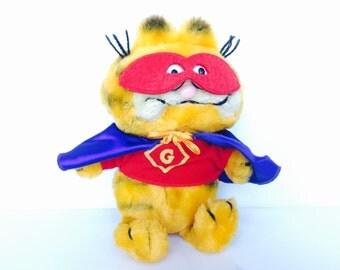 Vintage Garfield Plush Superhero HTF