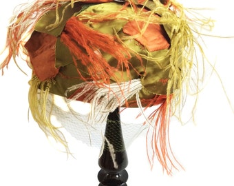 Vintage Rawak exclusive by PHIPPS Feather Hat