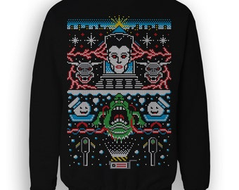 Ghostbusters T-SHIRT / Christmas / Scifi / Festive Comedy Ugly Sweater