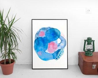 Blue Abstract Art Print. Large Abstract Art Print. Blue Abstract Art. Abstract Art Print. Large Abstract Art