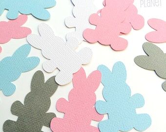Pastel Bunny Rabbit shapes, for Baby Showers, Easter, Spring, scrapbooking, DIY craft, card making, gift tags, table confetti, decorations.