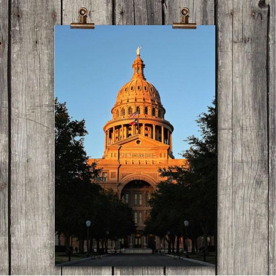 Austin At Dusk: Sunset Capitol Texas State Capitol Building Austin TX