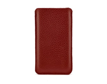 iPhone 7 Leather Case, iPhone 6S Leather Case, iPhone 6 Leather Pouch Sleeve Case Creative Handmade in London, UK,