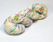 The Yearning--Bluefaced Leicester/Silk 4 ply fingering--Throw the Confetti