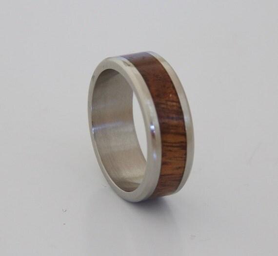 Hawaiian Koa Ring Anniversary Ring Wedding Ring Mens