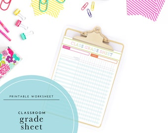 Printable Classroom Grade Sheet / Gradebook Log