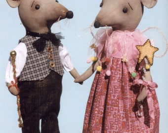 Primitive PATTERN Country Standing Mice Princess & Prince and Sam and Libby