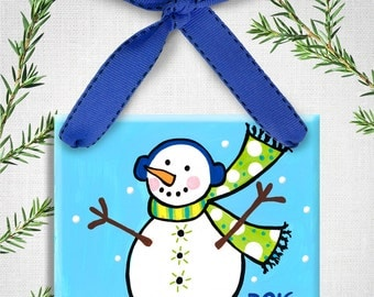 Personalized Christmas Ornament - Kids Christmas Gift - Christmas Gift Ideas - Family Ornament - Personalized Ornament - Snowman Ornament