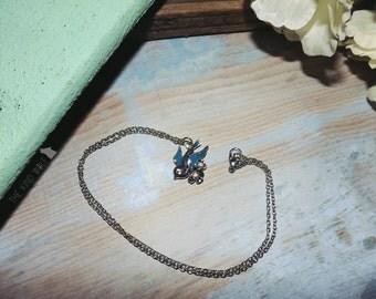 Little Blue Bird Necklace
