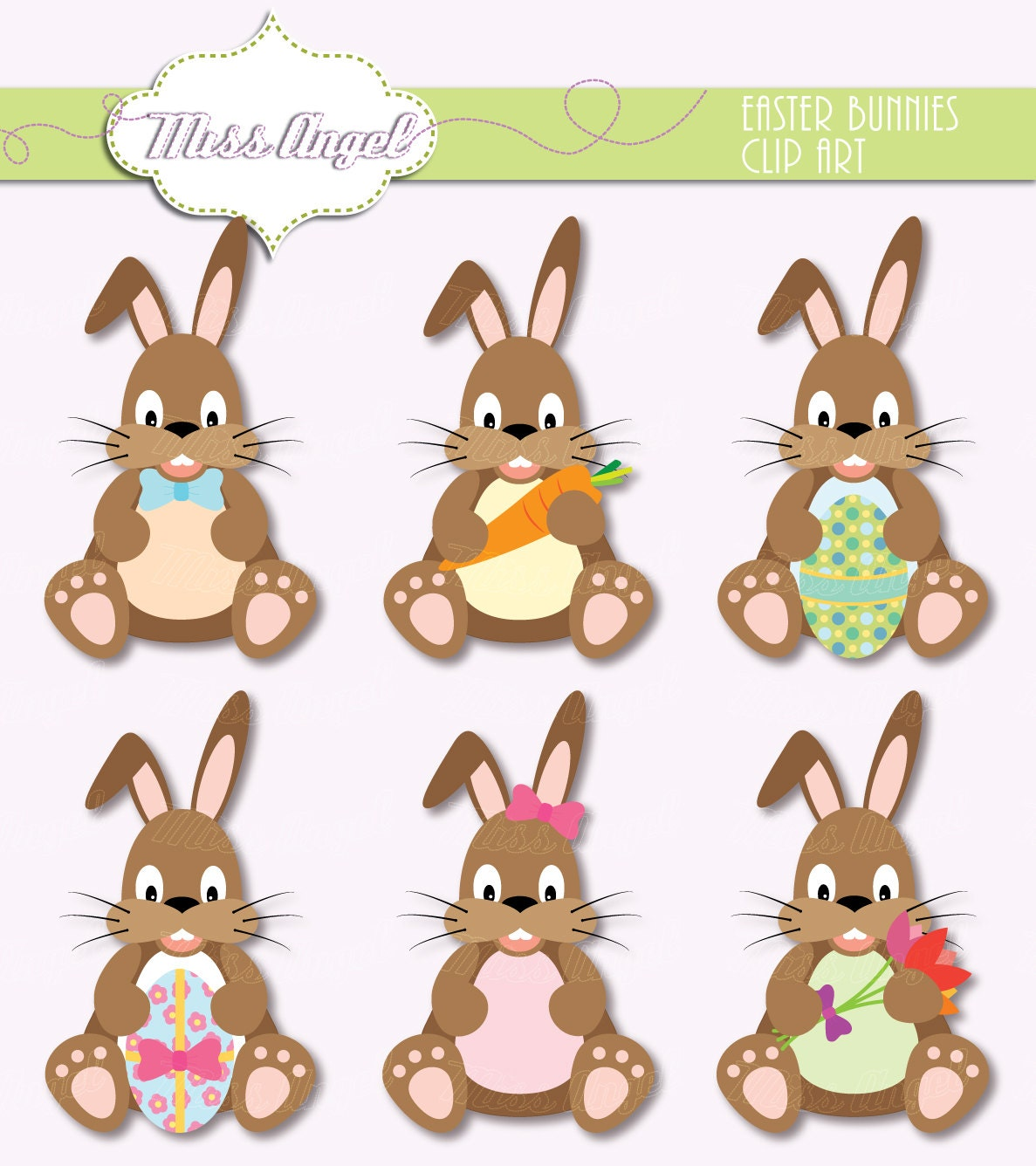 easter bunnies clip art 6 easter bunny 6 brown rabbit