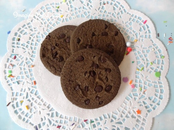 FAUX Brownie Chocolate Chip Cookie Set Fake Fake Food