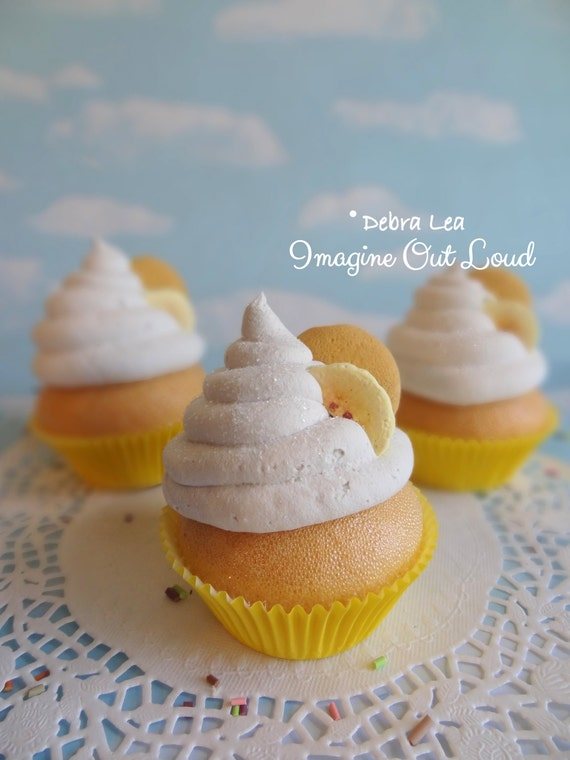 Fake Cupcake Banana Pudding Whipped Cream Vanilla Wafer Fake Cookie Prop Display