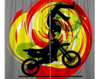 Dirt bike curtains | Etsy