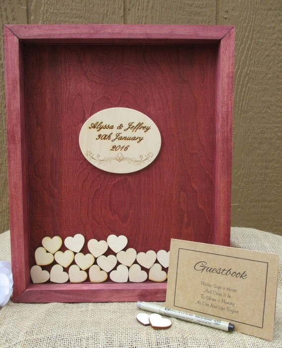 Rustic wedding guest book alternative 50th by for Wedding dress shadow box for sale