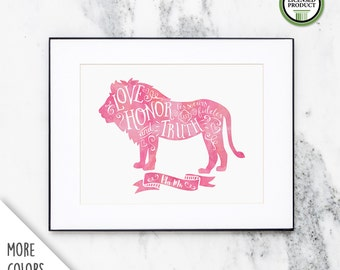 Phi Mu Love Honor and Truth   8x10 Wall Art Print   Sorority Big Little Reveal Gift   Officially Licensed   PM-810