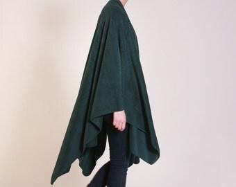 Fleece Shawl, Green Poncho wrap, Wraps Shawls, Long Shawl, Cape Shawl, Shawls And Wraps, Womens Shawls