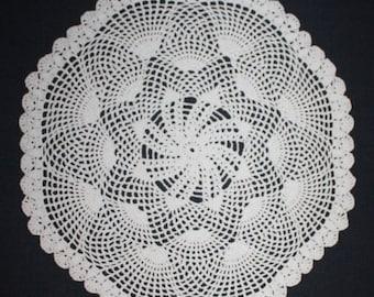 White Crochet Doily Round Lace Doily