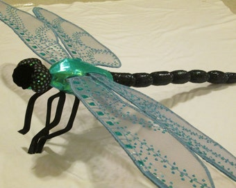 Dragonfly Art - Wall Hanging - Home Decor - Housewarming Gift - Wedding Gift - Birthday Gift - Iridescent Green Darner