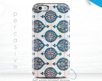 Blue Tile iPhone 7 Case Geometric iPhone 6s Cover, Tile Pattern iPhone 5 Case, iPhone 5c Case 3D iPhone 6 Case Mosaic Galaxy s7 case 10y