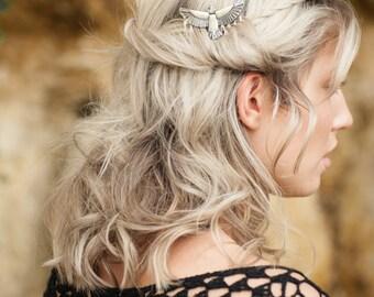 Hair Comb, Silver Hair Clip, Boho Accessory, Boho Hair Accessory, Silver Hair Pin, Boho Hair Comb, Bohemian Hair Clip, Gold Hair Comb,Falcon