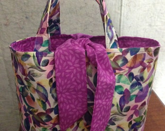Spring Leaves Reversible Hand Bag