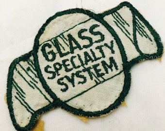Vintage Glass Specialty System Fabric Patch