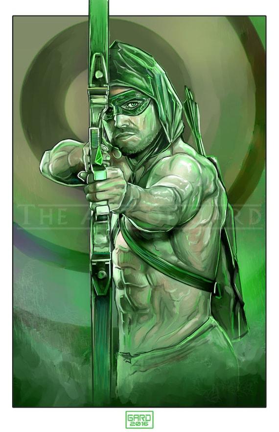 The Arrow (Stephen Amell) 11X17 Artist's Print