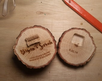 Wood Branch Ring Box