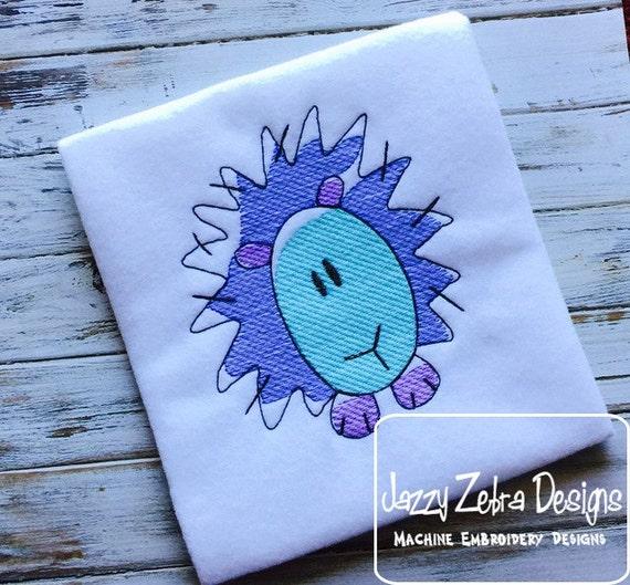 Porcupine Sketch Embroidery Design - zoo Sketch Embroidery Design - forest Sketch Embroidery Design - porcupine Sketch Embroidery Design