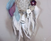 Teal and Purple flower Dreamcatcher